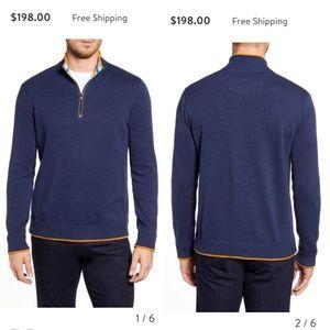 NWOT Robert Graham Regular Zip Pullover in Blue